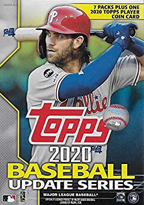 2020 Topps Traded and Update Series Baseball Unopened Blaster Box of Packs with 99 Cards including One EXCLUSIVE Coin Card and Possible Rookies Autographs and Jersey Cards