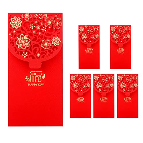 6PCS Chinese New Year Red Envelopes Lucky Money Envelopes Spring Festival...