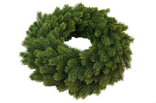 Hochwertiger Tannenkranz/Klassischer Türkranz/Dekokranz - Groß: Ø 43cm - Indoor & Outdoor - Weihnachtskranz/Hängekranz/Tischkranz - Künstlicher Kranz Tanne - Weihnachten/Weihnachtsdeko