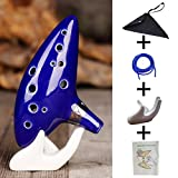 Aovoa Legend of Zelda Ocarina 12 Hole Alto C with Getting Started Guide Display Stand and Protective Bag