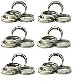 Mason Jar Replacement Rings or Durable & Rustproof Tinplate Metal Bands/Rings for Mason Jar, Ball Jar, Canning Jars,Storage (Set of 24 Regular Mouth)