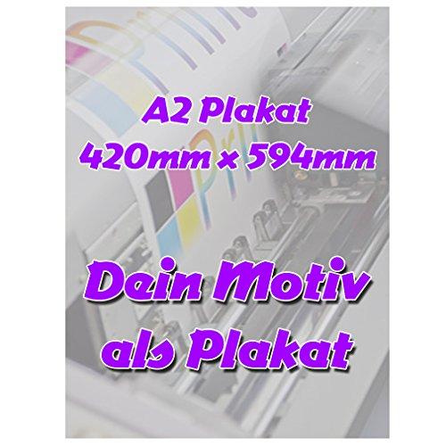 SHIRT-TO-GO Fotodruck PapierPlakat DIN A2 Poster Plakat 420mm x 594mm individuell mit deinem Motiv selbst gestalten