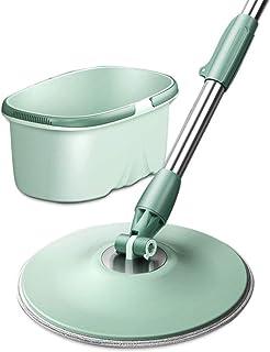 ZKS-KS モップセットのモップとバケットセットの最強の最も重い義務モップのための専門家の床洗浄システムのための家フラットモップ(色:グリーン、サイズ:ワンサイズ) 家庭用モップセット