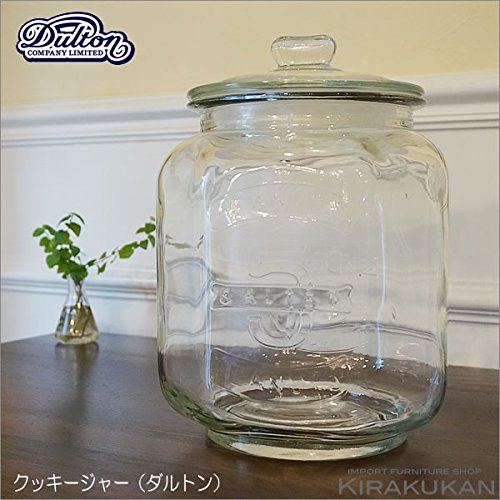 DULTON ダルトン【グラスクッキージャー(保存ビン)】ガラス瓶 キッチン雑貨 お菓子入れ