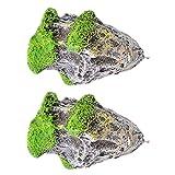 MagiDeal 2 Piece Magic Floating Rocks Suspended Stones Aquarium Ornaments for Fish Tank Landscaping DIY Decoration