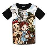 Baofahu Niños/Jóvenes Wi-zard of O-z T-Shirts Camisetas de Manga Corta 3D para niñas niños