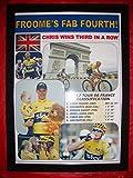 Lilywhite Multimedia Chris Froome 2017 Tour de France - Impresión enmarcada