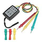 Akozon SP8030 Medidor de secuencia LED indicador de rotación de fase digital con indicación de zumbador Tensión de CA trifásica de 200 V a 480 V Probador
