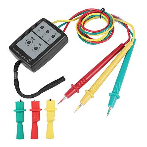 Akozon SP8030 Digitaler Phasendrehungsanzeiger LED Sequenzzähler mit Summer Anzeige 3 Phasen AC Spannung von 200V bis 480V Tester