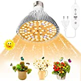SINJIA 100W LED Lampade da Coltivazione Indoor, E27 78 LEDs Full Spectrum Plant Light LED Grow Light per giardino Serra Piante da interno Piantina Verdure, Fiori