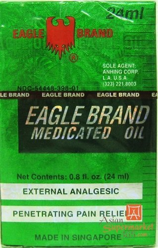 A DOZEN (12) EAGLE BRAND MEDICATED OIL 24ML (O.8 OZ)