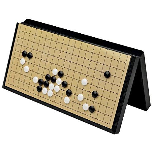 WONZOM 囲碁 ポータブル 囲碁盤 折りたたみ 囲碁セット マグネット 19路 19道盤 37×37cm 初心者 プロ 兼用