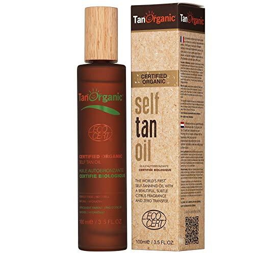 TanOrganic: Selbstbräunungsöl, schlierenfrei, natürlich, öko-zertifiziert, vegan, Anti-Aging, einfache Anwendung - 100 ml