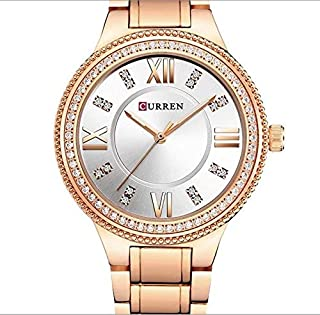 Curren Sport Watch For Women Analog Stainless Steel - 9004 Rose Gold