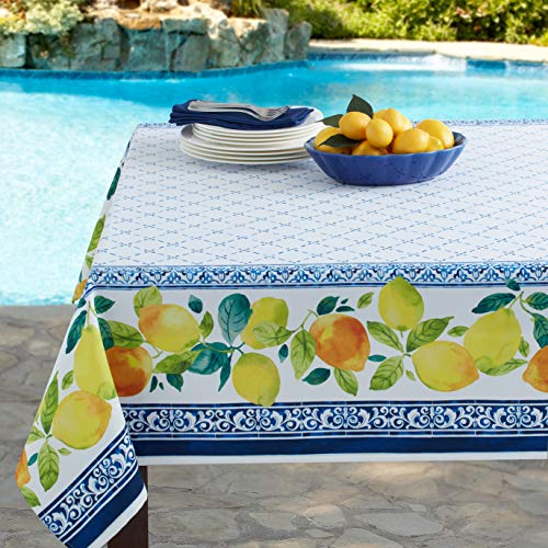 Benson Mills Tuscany Citrus Tablecloth, 60X104 INCH, Multi