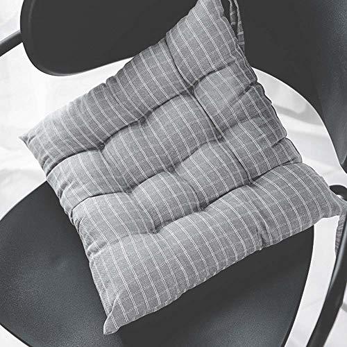 YangD Sitzauflage Stuhl für gartenmöbe, Dickes Gartenstuhl Auflage Stuhlkissen Sitzkissen Outdoor für Haus und Garten Bürostühle (Color : Gray, Size : 40cm)