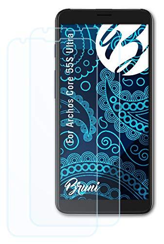 Bruni Schutzfolie kompatibel mit Archos Core 55S Ultra Folie, glasklare Bildschirmschutzfolie (2X)