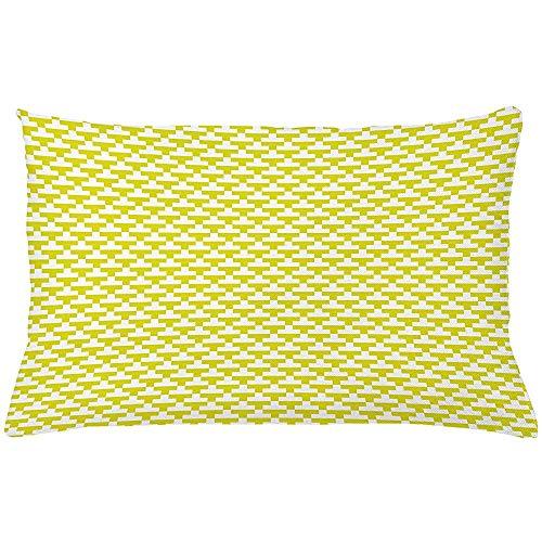 Ducan Lincoln Pillow Case 4 Stück 18X18 Zoll Abstrakte Wurfkissen Kissenbezug,Monochrome Sommer Tone Tetris Look Motive Drucken Auf Einfachen Hintergrund,Home Decor Rechteck Akzent Kissenbezug