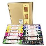 Satya Assortimento Mix Incenso Aromatico + Incensario, 12 confezioni da 15 g, Aromi Esatti, Incenso Naturale Aromaterapia, Lunga Durata Aroma Delicato