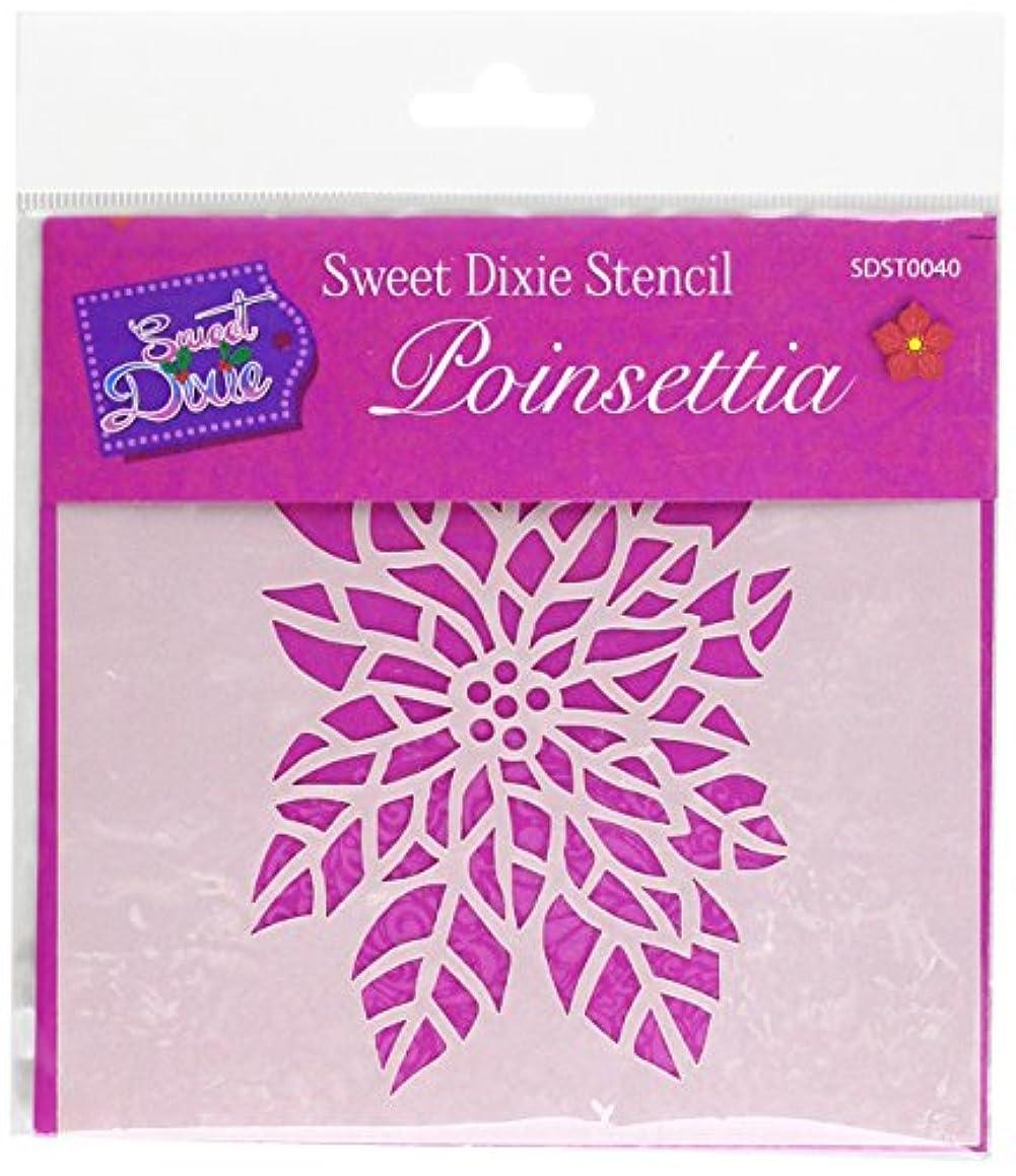 Sweet Dixie Poinsettia Stencil