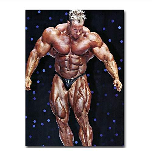 Suuyar Jay Cutler - IFBB Bodybuilder Fitness Wandkunst Poster Leinwand Malerei Licht Leinwand Dekoration Druck auf Leinwand Wandkunst-60x90cm Kein Rahmen