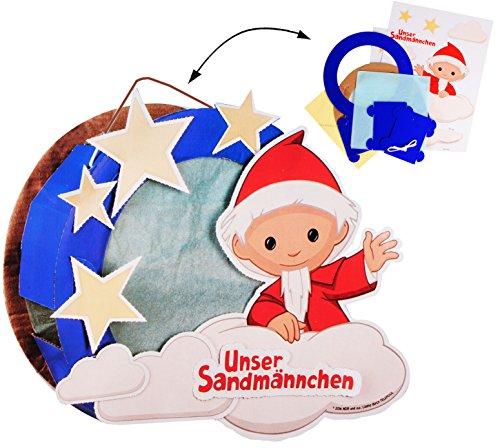 alles-meine.de GmbH Bastelset _ 3-D Effekt _ Papier Laterne / Lampion -  unser Sandmännchen  - zum Basteln / Laternenbastelset - für Kinder - Papierlaterne - Lampe - Laternen L..