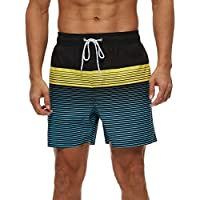 Men's Quick Dry Swim Trunks with Mesh Lining (various sizes/styles)