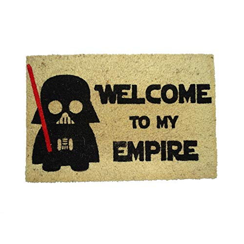 koko doormats Felpudo de Star Wars para Entrada de Casa Original y Divertido/Fibra Natural de Coco con Base de PVC, 40x60 cm (A-Welcome to my Empire)