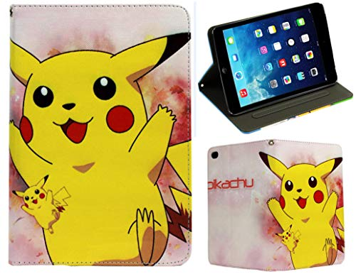 For New Apple iPad Pro 9.7'' / iPad 9.7 & iPad Air 1-2 Pokemon Pikachu Stand Case Cover