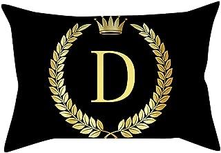 Cojines Geom/étrico Decorativa Almohadas Fundas Funda de coj/ín Rosa Negro Oro Funda de Almohada Cuadrada Decoratio Hogar para sof/ás y Camas de Salones y Habitaciones SomeoLiky