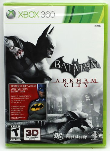 Batman: Arkham City for Xbox 360 W/Access Code for 1970's Batsuit Skin