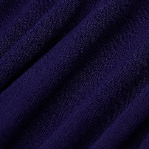 Homeyee Frauen elegante dunkelblaue Knopf Hülsen-dünne Abend-Partei-Geschäfts, figurbetontes Kleid B329 (EU 36 = Size S, Dunkelblau) - 6