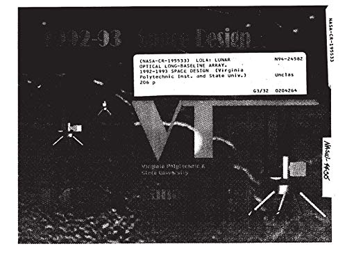 LOLA: Lunar Optical Long-baseline Array. 1992-1993 space design (English Edition)