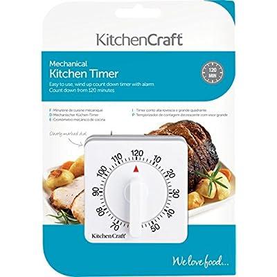 Kitchencraft Wind-Up Mechanical 2-Hour Kitchen Timer