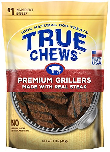 True Chews Premium Grillers Made with Real Steak, 10 Ounce