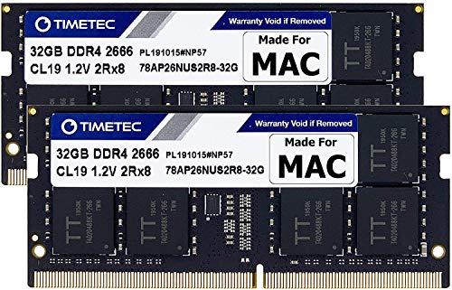 "Timetec Hynix IC Compatibile con 2019 iMac 27"" w/Retina 5K Display, fine 2018 Mac Mini DDR4 2666MHz PC4-21300 2Rx8 CL19 1.2V SODIMM Memoria RAM Upgrade (64GB(32GBx2))"