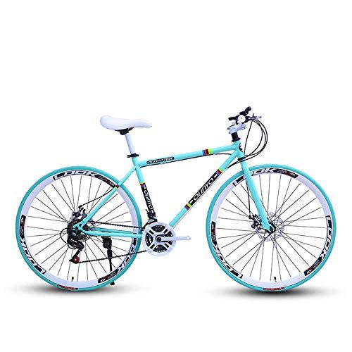 Domrx Fahrrad Fixed Gear Fahrrad 24-Gang 40 Messer Doppelscheibenbremsen Männer und Frauen Erwachsene Fahrrad Straßenrennen-Bianchi_China