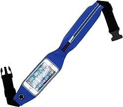 حزام خصر لالعاب الجري مع نافذة بشاشة لمس للهواتف الذكية من برومايت لايف بيلت 2 - لون ازرق