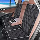 100% Waterproof Bench Car Seat Cover Protector - Strong Durable,Nonslip Dog Seat Cover for Back Seat,Compatible for Middle Seat Belt and Armrest,Universal Size Fits for Cars,Trucks & SUVs
