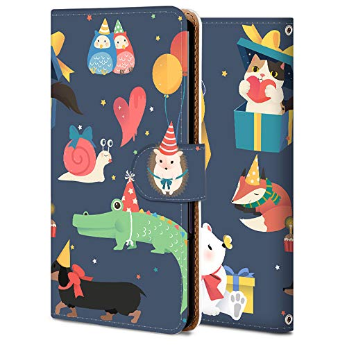Galaxy S8+ SC-03J ケース 手帳型 カード収納 スタンド機能 衝撃吸収 耐衝撃 SC-03J ケース プレゼントする動物 アニマル アニメ かわいい 12259025