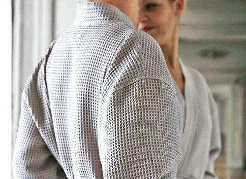 Blanc des Vosges Peignoir Manoir Perle Taille S - 100% coton Nid d'abeille
