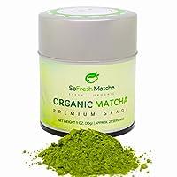 Poudre de Thé Vert Matcha Bio - Qualité Cérémoniale Japonaise - Certifié USDA & JONA & VEGAN (30g)