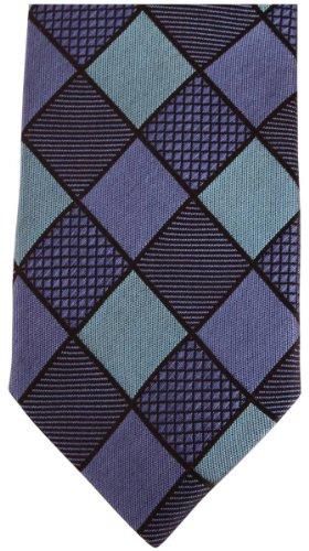 Knightsbridge Neckwear Blue Diamond Silk Skinny cravate de
