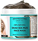 100% PURE & Natural Dead Sea Mud Mask NO INGREDIENTS ADDED, 5 Minute mask - Acne Treatment,...