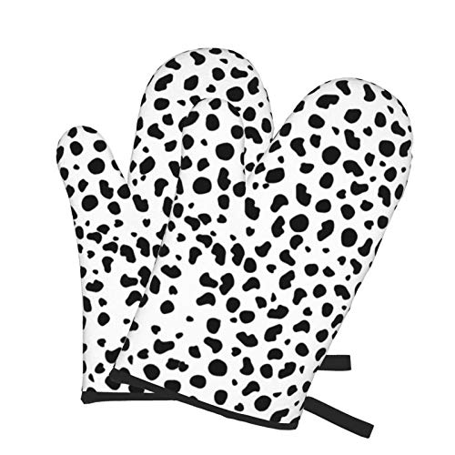 Ofenhandschuhe für Küche, Dalmatiner, Grillen, Kochen, Ofen-Handschuhe, hitzebeständig, Camp-Ofenhandschuh-Set für Mikrowelle, Küche, Kuchen, Damen, Herren, Kinder, Pizza Backen