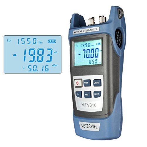 uxcell Fiber Optical Power Meter with Light Source SC FC ST Connector Optic Test Equipment for CCTV CATV Communication Engineering -70dBm to 3dBm