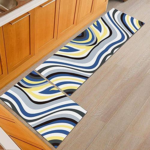 OPLJ Alfombrillas Sencillas Alfombrillas de Cocina Antideslizantes alfombras de baño Modernas Alfombrillas de Entrada Manta Absorbente Alfombrillas A9 40x60cm + 40x120cm