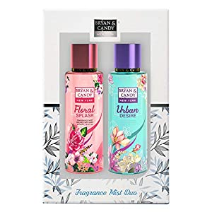Bryan & Candy Newyork Body Fragrance Mist Spray Duo Kit for Women, Floral Splash And Urban Desire 250 ml Each (Pack of 2) No Gas Perfume