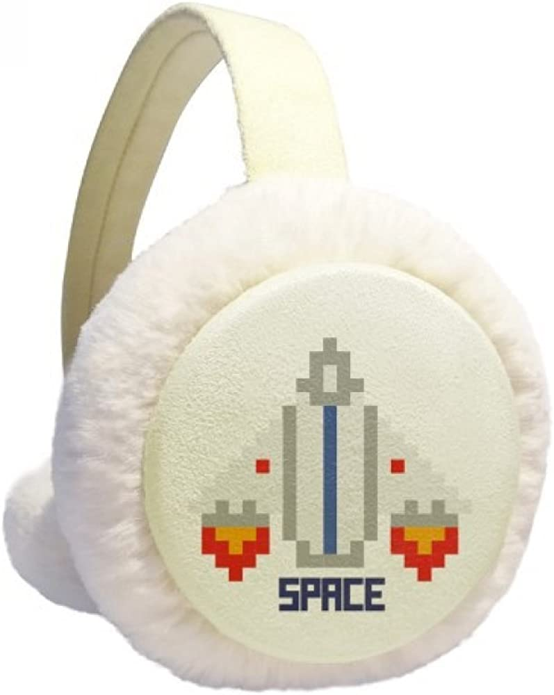 Space Ship Take Off Universe Pixel Ear Warmer Max 64% OFF Cable Trust Winter Knit