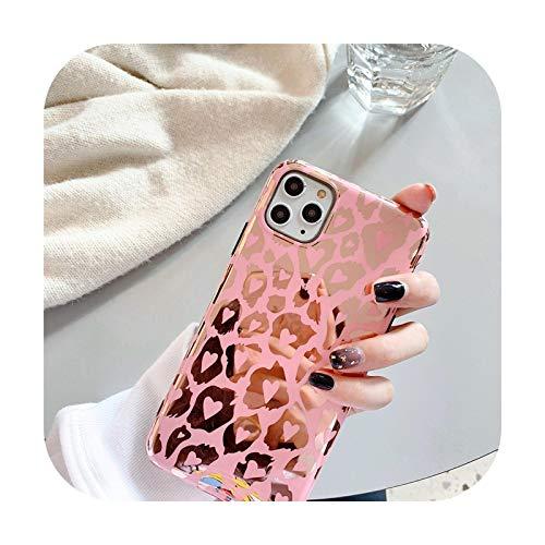 Hopereo - Carcasa para iPhone 12 Mini 11 Pro Max X Xr Xs Max 7 8 Plus Se 2020, color rosa